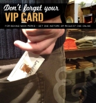 Don't forget your VIP card